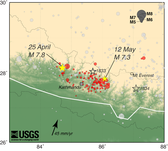 April and May Nepal Earthquakes