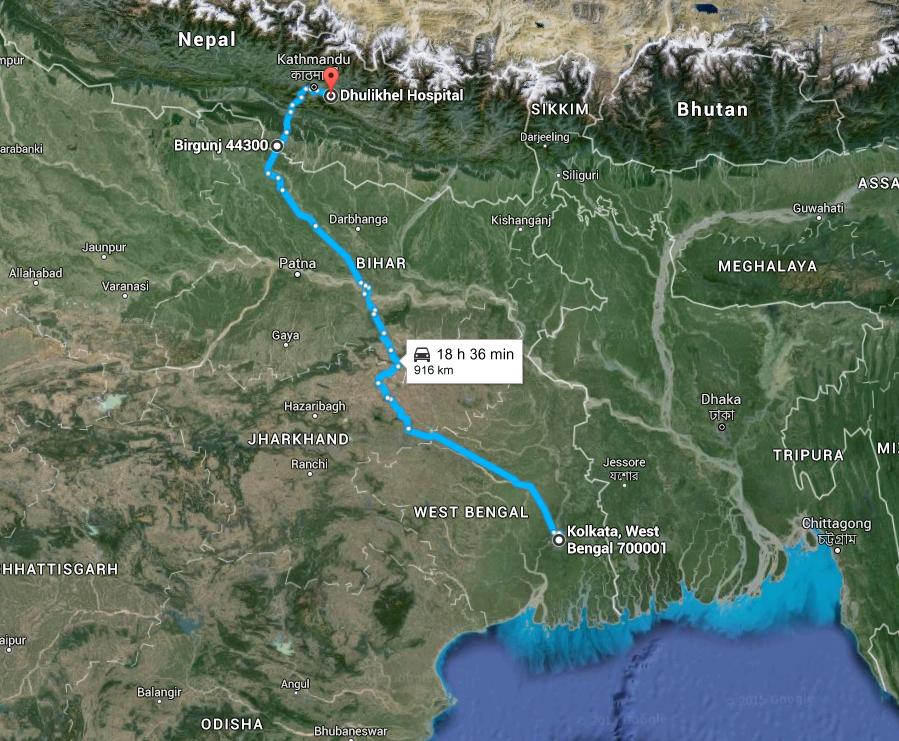 Kolkata to Dhulikhel